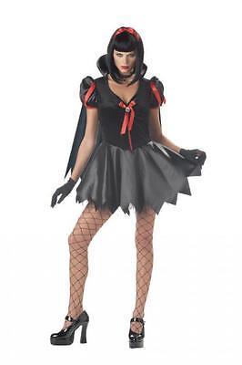 Snow Fright Costume Women's Juniors 3-5 Halloween Gothic Snow White Dress #N26 - Gothic Snow White Costume