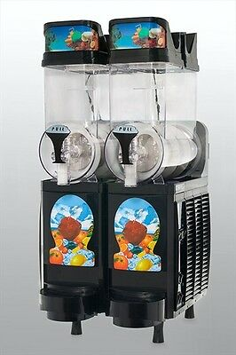 New Black Faby Express 2 Bowl Frozen Drink Machine