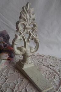Shabby Cream Cast Iron Door Stop