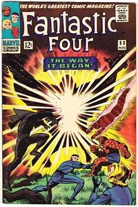 FANTASTIC FOUR #53 KIRBY 1966 BLACK PANTHER VF (8.0)