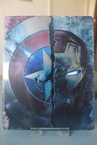 Blu-ray-steelbook-Marvel-Captain-America-Civil-War-2D-3D-identique-Fnac-Neuf-VF