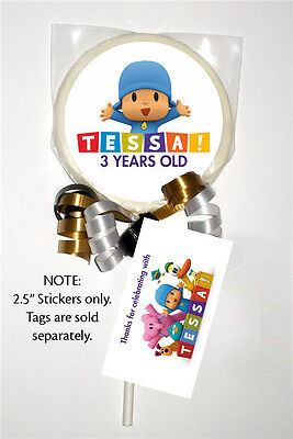 12 Pocoyo Party Favors Birthday Personalized 2 5 Inch Lollipop Stickers