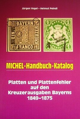 Michel Katalog und Handbuch Plattenfehler Bayern Kreuzerausgaben