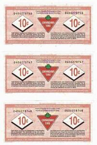 2012-10c CANADIAN TIRE MONEY NOTE coupon Consecutive Kitchener / Waterloo Kitchener Area image 2