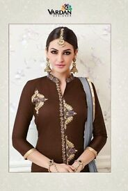 VARDAN NATIN VOL-1 GOLD WHOLESALE ETHNIC WEAR SUITS