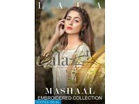 LALA MASHAAL EMBROIDERED LAWN COLLECTION WHOLESALE ORIGINAL PAKISTANI SUITS