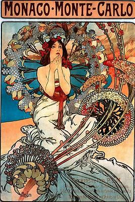 9 Super Prints Collection Alfons Alphonse Mucha Art Nouveau Colourful Pictures