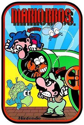 Mario Bros. POSTER Nintendo 1983 Video Arcade Game Rare Coin-Op Super Mario Big