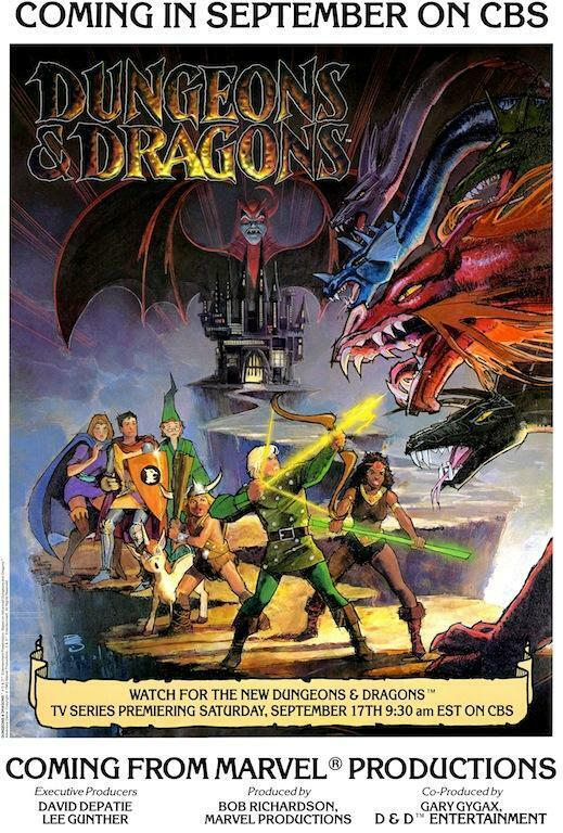 Dungeons and Dragons Animated Series TV Promo POSTER 1983 D&D Full Version