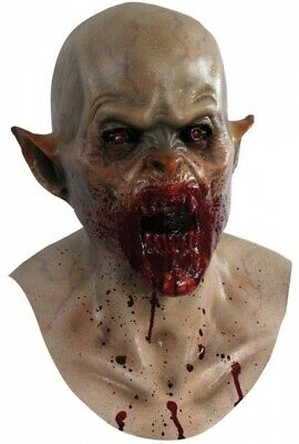 Blood Spattered Nosferatu Vampire Ghoulish DELUXE ADULT LATEX RAVNOS MASK - Nosferatu Mask
