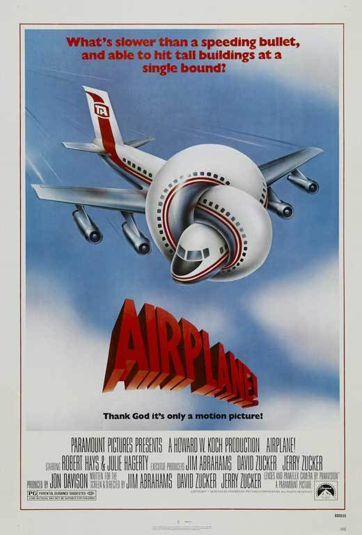 """AIRPLANE Movie Poster [Licensed-NEW-USA] 27x40"""" Theater Size (1980) Nielsen"""