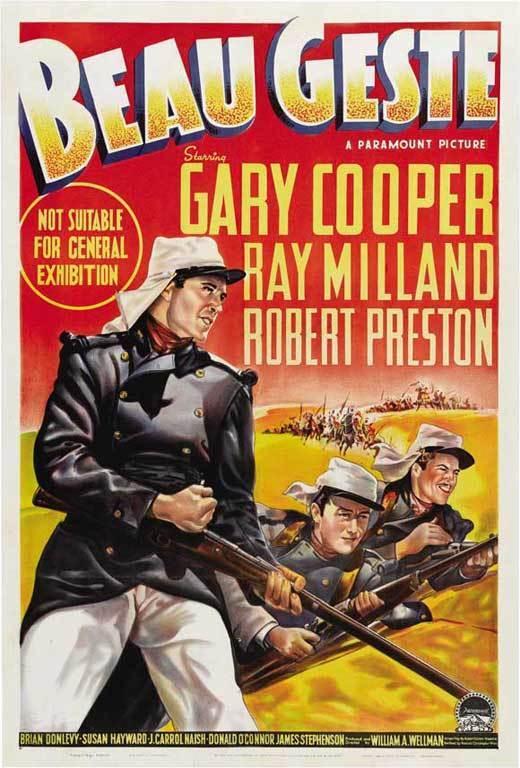BEAU GESTE Movie POSTER 11x17 Australian Gary Cooper Ray Milland Robert Preston