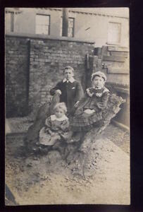 Lancs-FORMBY-Children-Edwardian-dress-RP-PPC-1907