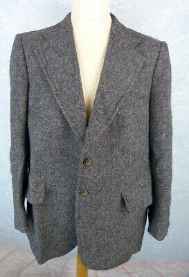 HARRIS TWEED Veste Costume Homme Taille 52 - Pure Laine - Grise](Harris Costume)