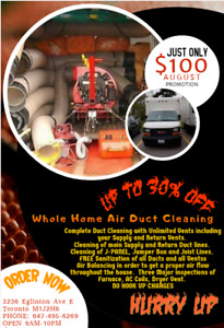 Professional Duct Cleaning  With Unlimited Vents In Just $100