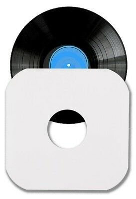 "100 12"" LP Album White Paper Vinyl Record Sleeves Protectors Heavy Duty"