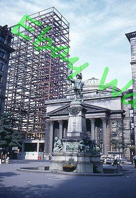 Maisonneuve Monument Bank Of Montreal Museum Construction 1959 Kodak 35Mm Slide