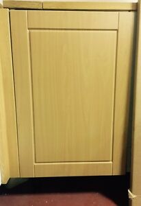 Beech effect shaker fitted kitchen unit cupboard cabinet for Fitted kitchen drawer unit