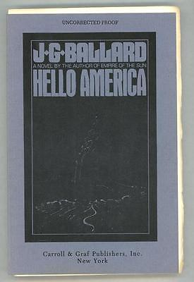 Hello America By J G  Ballard  Advance Proof