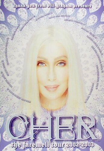 CHER BGP OAKLAND 2002 vintage concert poster BILL GRAHAM REX RAY 20x29 MINT