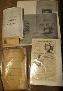 SINGER Sewing Machine Ephemera
