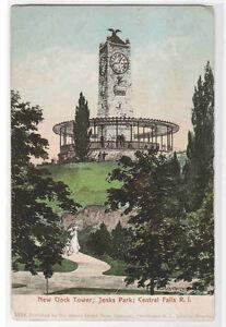 Clock-Tower-Jenks-Park-Central-Falls-Rhode-Island-1905c-postcard