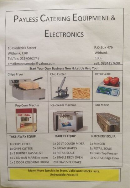 Catering Equipment For Sale !!!!