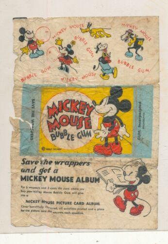DISNEYANA-1930s -GUM Inc,-Mickey Mouse Gum Card wrapper-#2