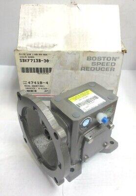 Boston Gear Right Angle Worm Gear Reducer Sbkf713b-30-b5-g 301 Ratio 0.32 Hp