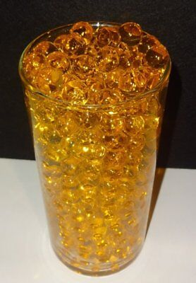 Gold Water Beads (Water Beads  ( Butterscotch Gold ) Centerpiece Vase Fillers ,Bulk 1/2 pound)
