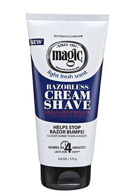 Magic Shave Razorless Cream Shave, Light Fresh Scent, Reg...