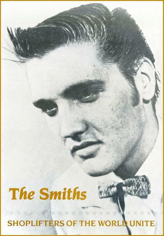 """The Smiths """"Shoplifters of the World Unite"""" POSTER 1987 Morrissey Marr Elvis"""