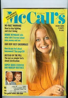 1976 Mccalls Magazine  Goldie Hawn Happy In Love No Fault Marriage Deb Reynolds