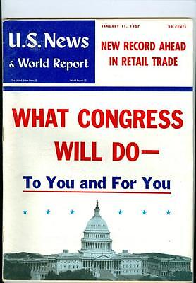 1957 U S  News   World Report  What Congress Will Do To You Record Retail Trade