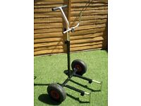 Take appart fishing trolly Pole or Rod,inflatable wheels, very good condition