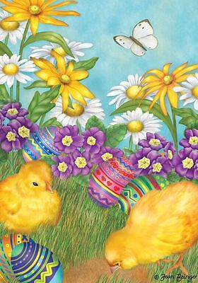 "Easter Garden Holiday Garden Flag Floral Chicks Eggs 12.5"" x 18"" Briarwood Lane"