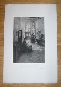 ANTIQUE-BUTCHER-MEAT-SHOP-STORE-WOMAN-BARREL-LUBECK-GERMANY-PRIMITIVE-ART-PRINT