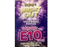 Enjoy a night out at Gala Bingo Fenton or Hanley