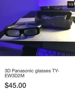 Panasonic 3D glasses and charger