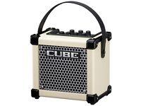 Roland micro amp cube in white