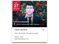 2 X sun 27th LCD Soundsystem tickets £90