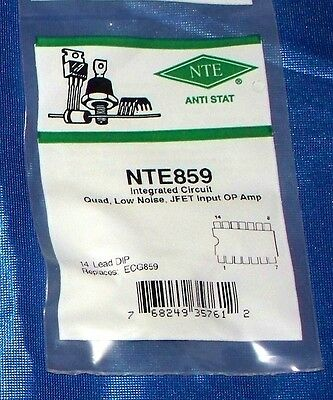 Nte Electronics Nte859 Integrated Circuit Quad Low Noise Jfet Input 14 Lead Dip