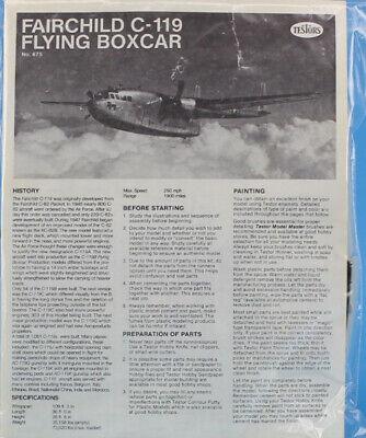 Testors Italeri 1:72 Fairchild C-119 G Flying Boxcar Plastic Model Kit #675U