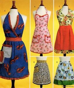 Vintage-Retro-Apron-PATTERN-40s-50s-Mad-Men-Full-Half