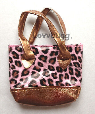 "Pink Leopard Purse for 18"" American Girl Doll Accessory"