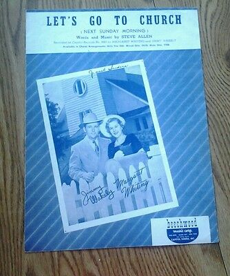 SHEET MUSIC LET'S GO TO CHURCH NEXT SUNDAY MORNING 1950