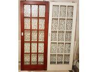 Solid wooden glazed sliding doors