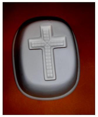 Cool  Large CROSS   Frit Stained glass fusing   kiln  jewelry  mold - Glass Fusing Frit Kiln Mold
