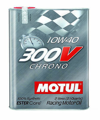 Motul 300V Chrono 10W40 (2 Liters) Synthetic Racing Motor Oil 103135