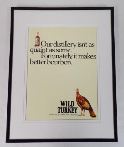 1989 Wild Turkey Whiskey 11x14 Framed ORIGINAL Vintage Advertisement
